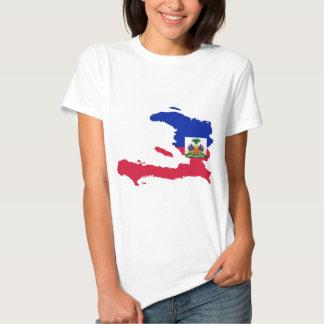 Haiti Flag Map HT Shirts