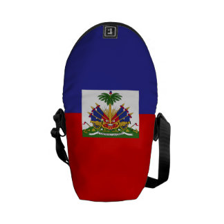 Haiti Flag Messenger Bag
