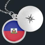 """Haiti Flag Necklace<br><div class=""""desc"""">Necklace with the flag of Haiti. Collar con la Bandera de Haiti.</div>"""