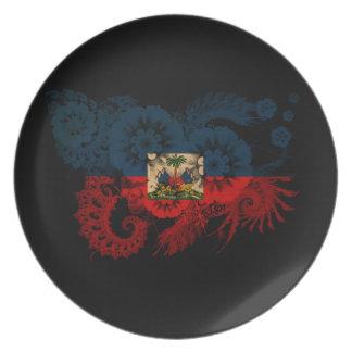 Haiti Flag Party Plate