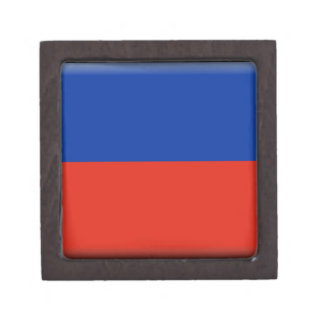 Haiti Flag Premium Keepsake Box