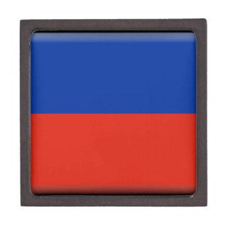 Haiti Flag Premium Keepsake Boxes