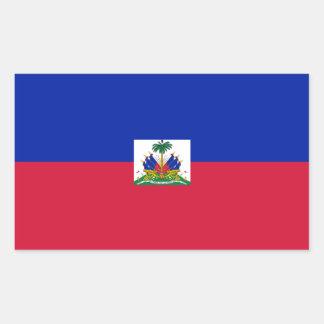 Haiti Flag Rectangle Stickers