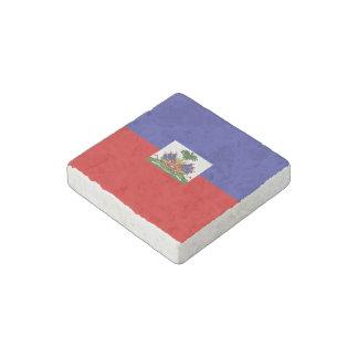 Haiti Flag Stone Magnet