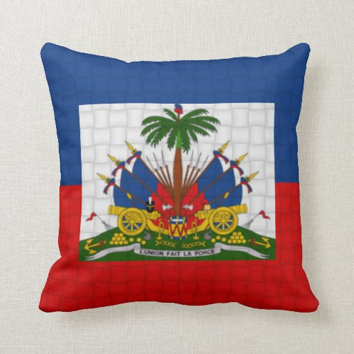 Haiti flag throw pillows