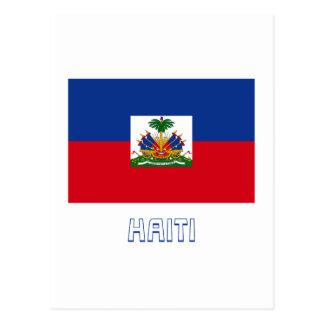 Haiti Flag with Name Postcard