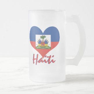 Haiti Frosted Glass Beer Mug