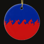 Haiti Gnarly Flag Ceramic Ornament