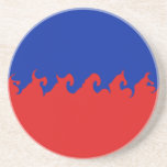 Haiti Gnarly Flag Sandstone Coaster