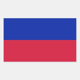 Haiti/Haitian (Civil) Flag Rectangular Sticker