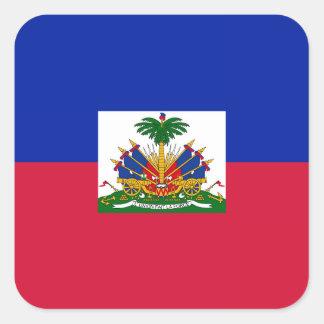 Haiti – Haitian Flag Square Sticker