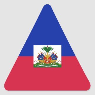 Haiti – Haitian Flag Triangle Sticker