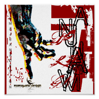 haiti hand design , logo two, T, I, I, -, A, I,... Print