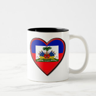 Haiti is In our hearts Two-Tone Coffee Mug