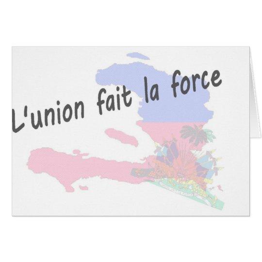 Haiti - L'union fait la force Card