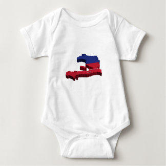 Haiti Map Baby Bodysuit