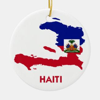 HAITI MAP CERAMIC ORNAMENT