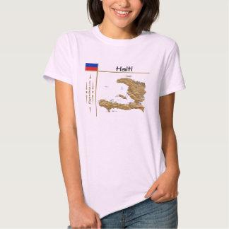 Haiti Map + Flag + Title T-Shirt