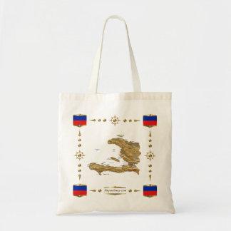 Haiti Map + Flags Bag
