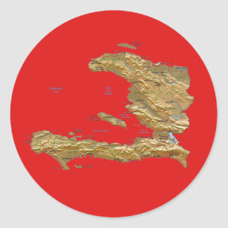 Haiti Map Sticker