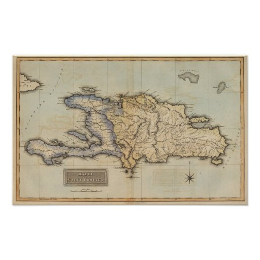 Haití o santo Domingo Póster