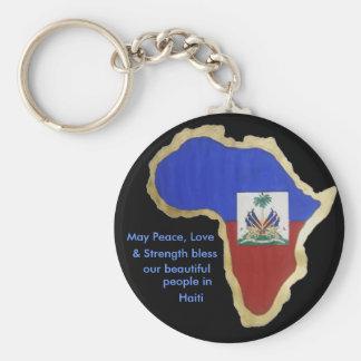 Haiti- Peace, Love , & Strength Keychain