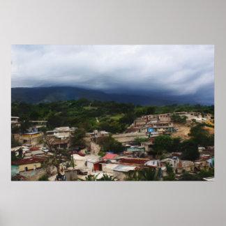 Haití - pintura de pared de Digitaces/retrato Póster