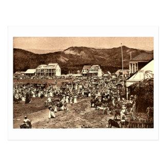 Haiti Port au Prince Market Vintage Postcard