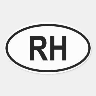 """Haiti """"RH"""" Sticker"""