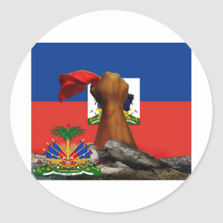 haiti rise copy 2.jpg classic round sticker