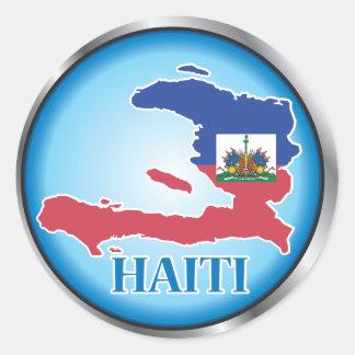 Haiti Round Button.ai Round Stickers
