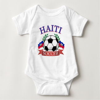 Haiti soccer ball designs baby bodysuit