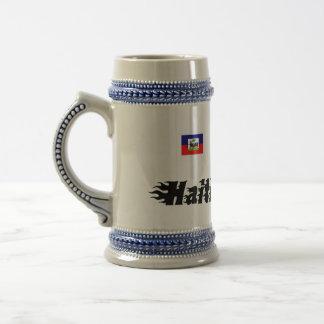haiti-text-22, This Is Haiti Cherie 18 Oz Beer Stein