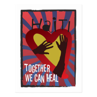 HAITI - Together We Can Heal Postcards