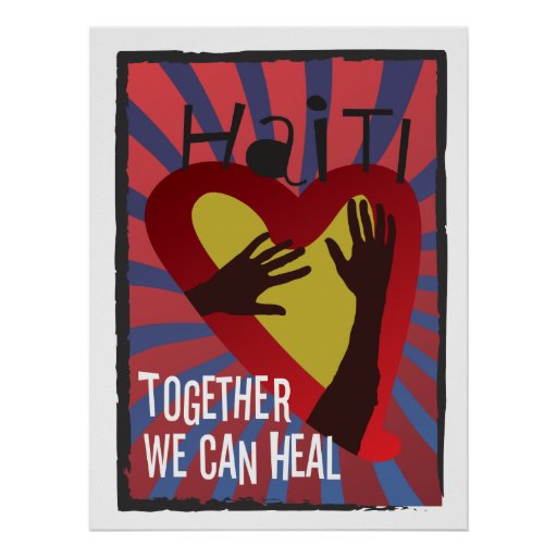 HAITI - Together We Can Heal Poster