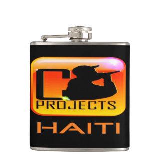 Haiti Vinyl Wrapped Flask