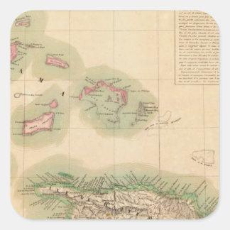 Haití y República Dominicana septiembre del 68 Pegatina Cuadrada