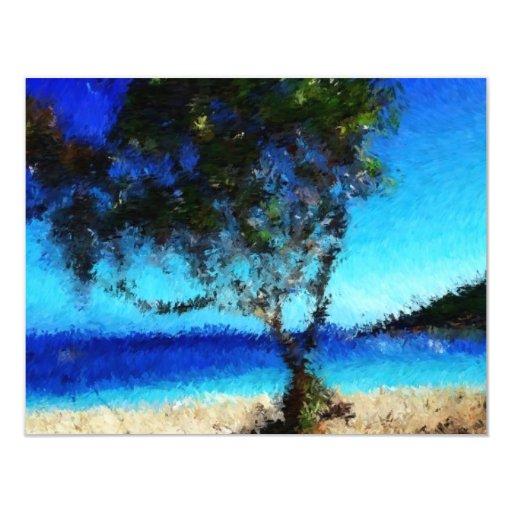Haitia-tree-on-the-beach_Painting Invitations