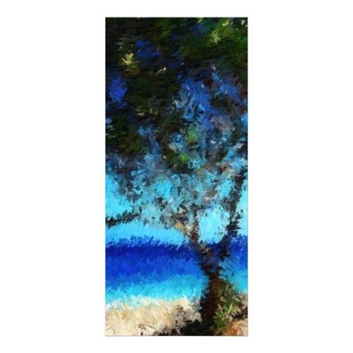 Haitia-tree-on-the-beach_Painting Tarjetas Publicitarias A Todo Color