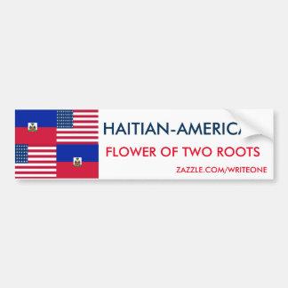 HAITIAN-AMERICAN BUMPER STICKER