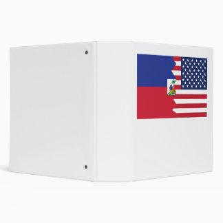 Haitian American Flag Binder