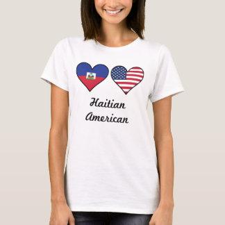 Haitian American Flag Hearts T-Shirt