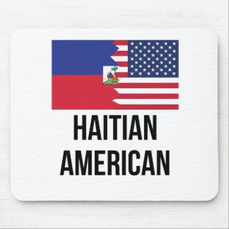 Haitian American Flag Mouse Pad