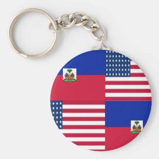 HAITIAN-AMERICAN KEYCHAIN