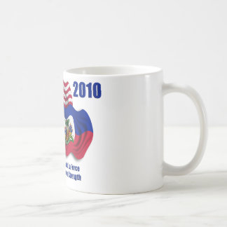 Haitian & American Waving Flags for Haiti Coffee Mug