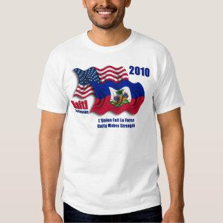 Haitian & American Waving Flags for Haiti Tee Shirt