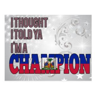 Haitian and a Champion Postcard
