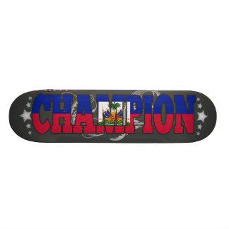 Haitian and a Champion Skateboard Deck