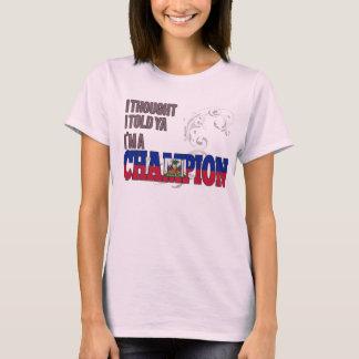 Haitian and a Champion T-Shirt