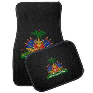 Haitian coat of arms car mat